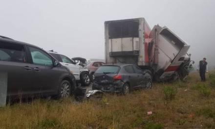 Carambola en la vía Monterrey Saltillo deja 32 lesionados