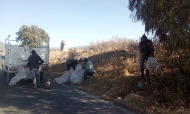 Recolectan en Tolcayuca 15 toneladas de basura en espacios públicos