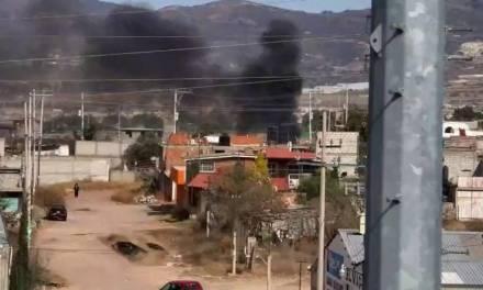 Detectan quema de colchones en Tlapacoya