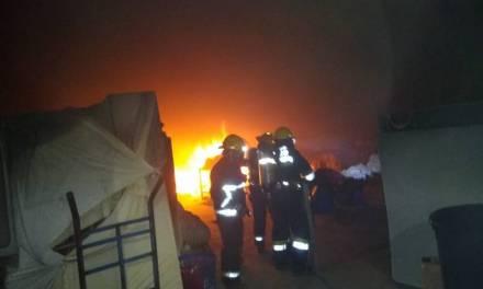 Se registró un incendio en una tintorería de Pachuca