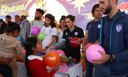 Reyes Magos regalaron juguetes a través de los Tuzos