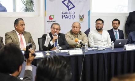 Implementan Canaco Pago, para impulsar a comercios de Hidalgo