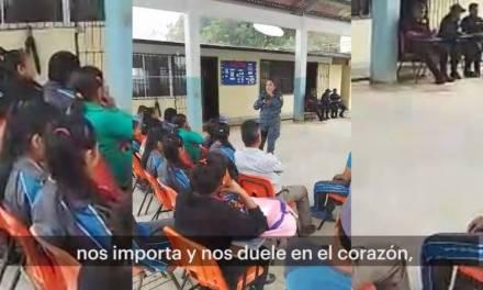 Imparte Policía Estatal pláticas de prevención en Náhuatl