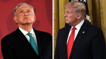 México está pagando el muro fronterizo, afirma Trump