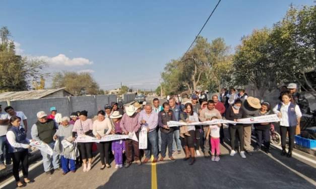 Inauguran tres obras en Mixquiahuala