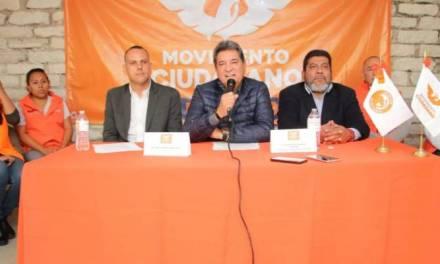 Movimiento Ciudadano no hará coalición en Hidalgo para el próximo proceso