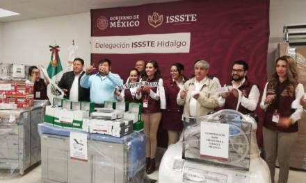 Entregan mobiliario médico a delegación del ISSSTE en Hidalgo