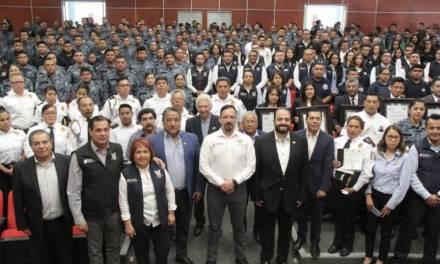 Reconocen a 32 agentes de la SSP de Hidalgo por destaca labor y desempeño