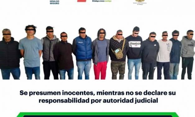 Frustran robo a bodega de Tulancingo; hay 12 detenidos