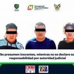 Aseguran a tres individuos con arma en Atotonilco de Tula
