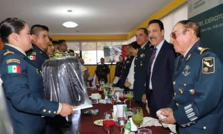 Encabezó Fayad la conmemoración del Día del Ejército Mexicano