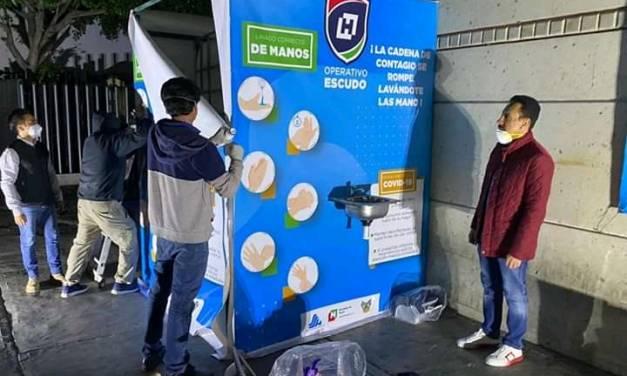 Instalan lavamanos comunitarios en los hospitales y clínicas de la SSH