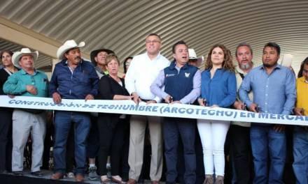 Alcalde de Tepeapulco inaugura Arcotecho en Mercado Municipal
