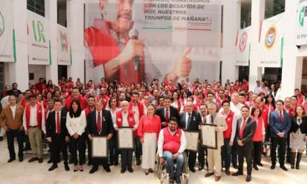 El Partido Revolucionario Institucional, conmemora su 91 aniversario