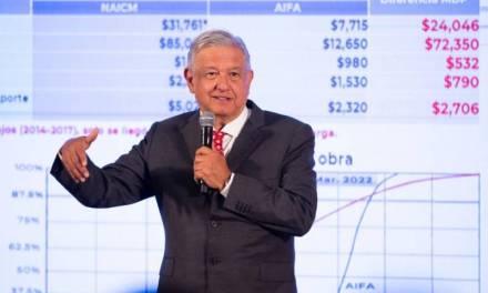 Reitera Amlo que Santa Lucía será 74 % más barato