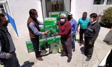 Entrega alcaldía equipo de fumigación a mercados de Pachuca