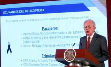 Por 2 tornillos sueltos, no debió volar helicóptero donde viajaban Martha Érika y Moreno Valle