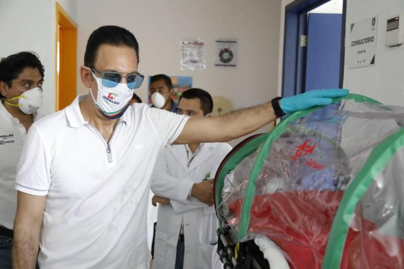Supervisa Fayad Hospital de Respuesta Inmediata de Huejutla