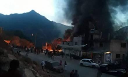 Van mil 400 damnificados por incendio de Nicolás Flores