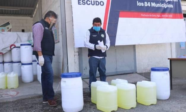 Gobierno del estado entrega insumos para cloración de agua en los 84 municipios