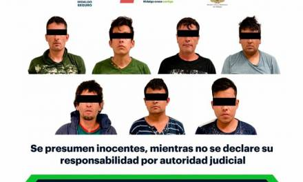 Aseguran a 7 individuos tras presunto intento de robo en bodega de Tolcayuca