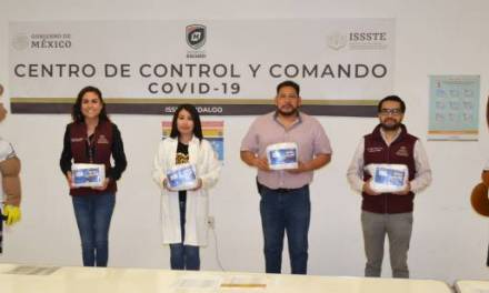 Recibe ISSSTE Hidalgo donación de cubrebocas del Club Pachuca
