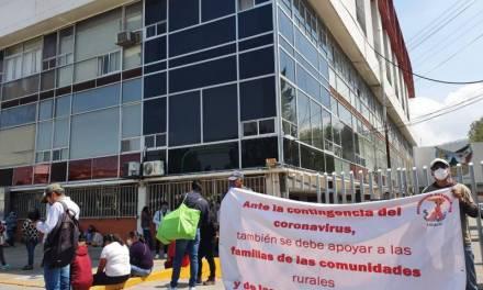 Antorchistas piden apoyo alimentario para hidalguenses vulnerables