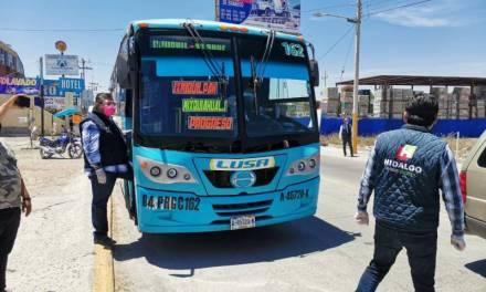 Continúan inspecciones sanitarias a transporte público