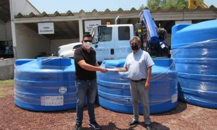 Conagua entregó 14 cisternas en 5 municipios