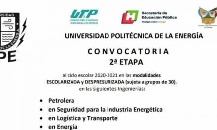 Continúa abierta la convocatoria de la Universidad Politécnica de la Energía