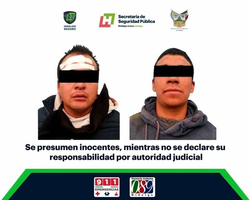 Tras persecución, asegura SSPH a dos individuos armados en Ixmiquilpan