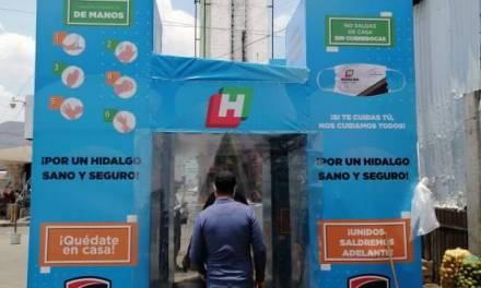 Obligatorio, el ingreso por túnel sanitizante a la Central de Abasto de Pachuca