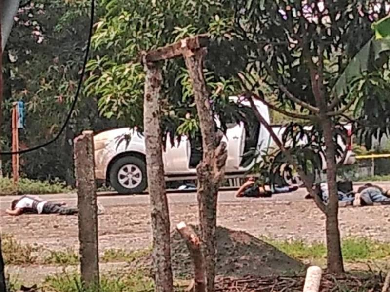 Pugna entre grupo armado y policías deja seis muertos