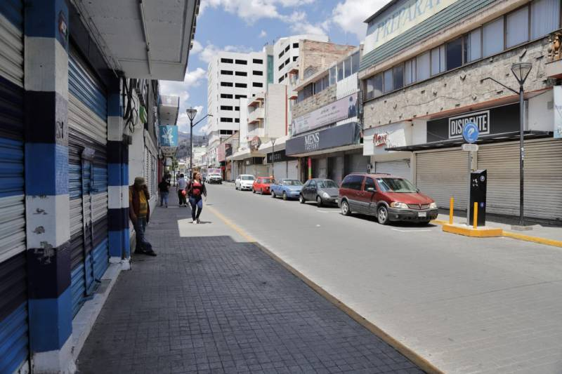 Comerciantes del centro de Pachuca reabrirían el 1 de junio