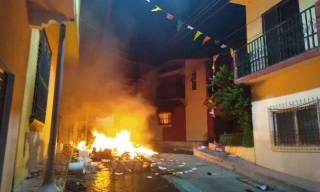 Tras información falsa sobre COVID-19, habitantes en Chiapas causan desmanes