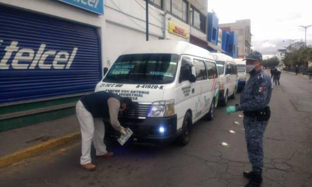 Sancionan a 25 unidades de transporte público por incumplir medidas del Operativo Escudo
