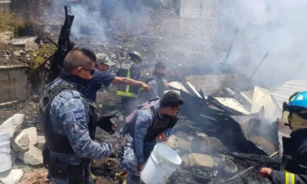 Incendio en vivienda de Cubitos no dejó lesionados
