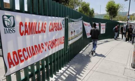 Camilleros de clínica 1 del IMSS piden protección, capacitación y sanitización