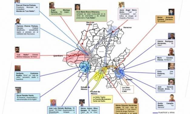Dos alcaldes, dentro de los 17 objetivos delincuenciales en Hidalgo