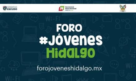 Realizarán virtualmente Foro Jóvenes Hidalgo