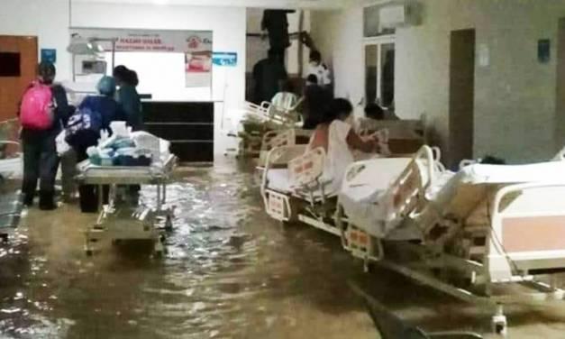 Provoca huracán Hanna inundación en hospital de Reynosa