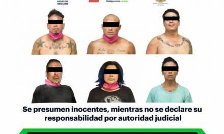 Con armas de fuego y presunta droga, asegura SSP Hidalgo a 6 individuos en Pachuca
