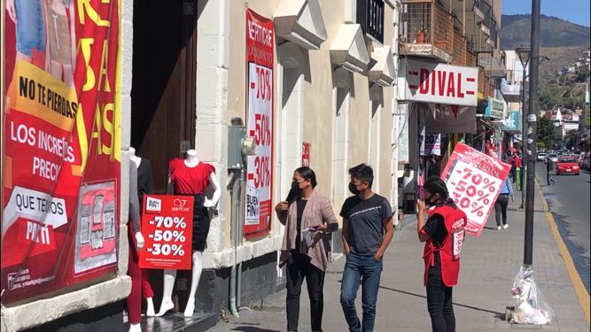 Reportan regular afluencia a comercios locales por Buen Fin