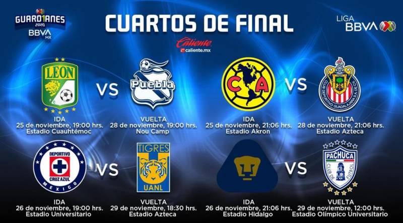Definen horarios para serie Pumas vs Pachuca
