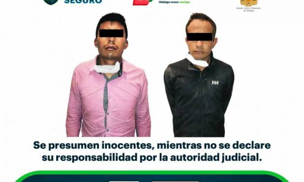 Caen dos por presunto robo en Pachuca