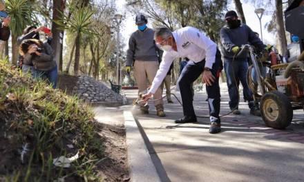 Sergio Baños da inicio a rehabilitación del Parque Hidalgo