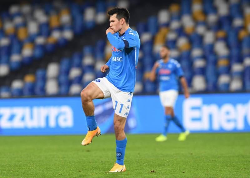 Hirving Lozano brilla con el Napoli: gol y asistencia