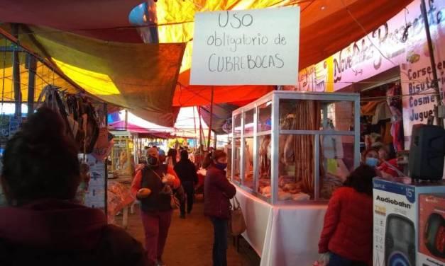 Suspenden tianguis y actividades del mercado municipal en Agua Blanca