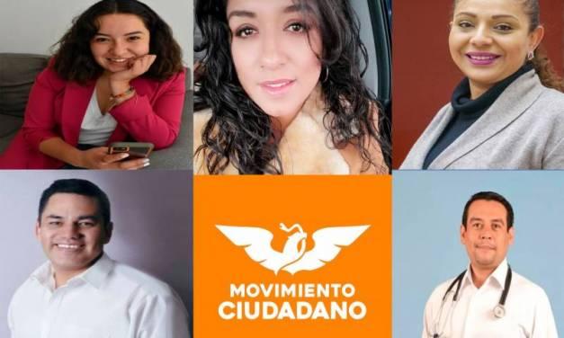 Movimiento Ciudadano designa primer bloque de candidatos