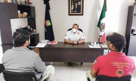 Municipios participan en reuniones de Protección Civil
